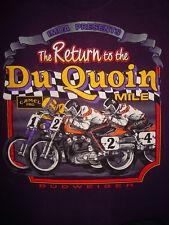 Vintage 90s CAMEL PRO DU QUOIN MILE T SHIRT Budweiser MOTORCYCLE RACE 1994 M