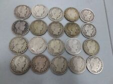 (20) Assorted Barber Half Dollars (All Different Dates) CIRC (250) 09-s,08-s,15-