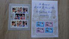 2 Blocs Feuillets Sheets GUERNSEY ISLE OF MAN Royal Wedding Diana 1981 MNH**