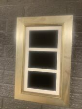 """28""""x13"""" italian silver picture frame with multi mount to fit 3 A4s"""
