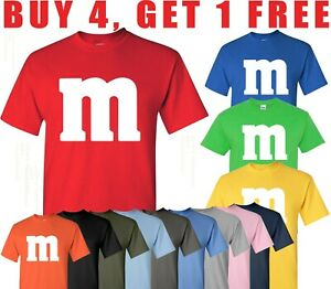 M&M T Shirt Halloween M & M T-shirt Costume group M and M  mm M&M'S Tee