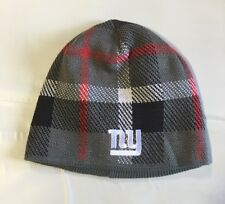 New York Giants Knit Beanie Winter Hat Toque Skull Cap NEW Grey Gray Plaid