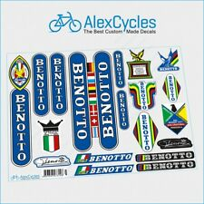Vintage Rare Benotto Campagnolo Restoration Decals Kit Ride New + Gift Stickers