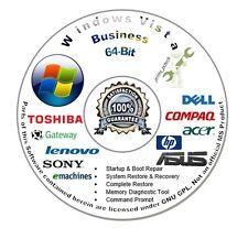 Windows Vista Business 64-Bit Install Boot Repair Recovery DVD CD Disc Disk