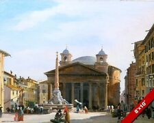 PANTHEON TEMPLE ROME ITALY ITALIAN OIL PAINTING ART GICLEEREAL CANVAS PRINT