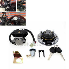 FXCNC Ignition Switch Gas Cap Seat Lock Set Fit SUZUKI GSXR750 1996-2000 6 Plugs