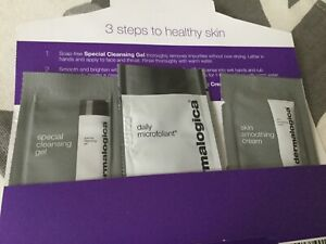 Dermalogica Normal/ dry skin essential 3 x samples - gel, microfoliant, cream BN