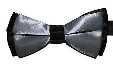 Mens Boys Formal Dress Bow Tie Velvet Trendy Wear Satin Bowtie Stylish Accessory