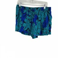 A.N.A Tropical Leaf Printed Pull On Shorts Drawstring Multi Color Size Large L