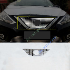Stainless Steel Front Bumper Upper Grille Grill Fit o For Nissan Sentra 2016-18