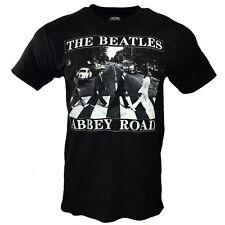 The Beatles Men Tee T Shirt John Lennon Rock Band Logo Apparel Vintage Black New