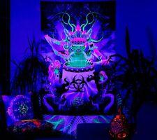 Psychedelic Tapestry UV Backdrop Psytrance Festival Psydeco Goatrance Hippie