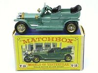 Matchbox Lesney Y15-1 Rolls-Royce Silver Ghost In Type 'D3' Box