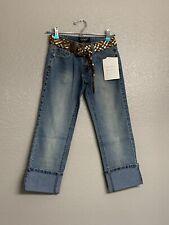 Angels Capri Jeans Dark Blue size 1 Bling Belts Sequin