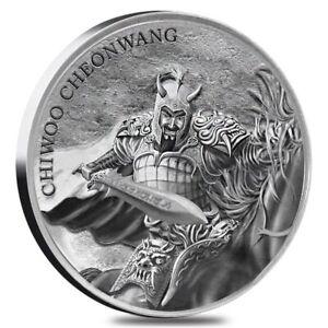2018 Chiwoo Cheonwang South Korea 1 oz Silver Round BU In Mint Capsule
