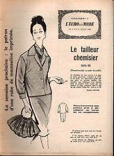 ▬► Patron Couture Supplément Écho de la Mode Tailleur Chemis Taille 48 N°31 1960