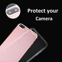 Clear Soft Slim Phone Protective Back Case Cover For iPhone 4 5 6 7 8 Plus X