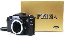 NIKON FM3A  SLR FILM CAMERA Body  BLACK [EXCELLNT++++++ in Box] From Japan #1018