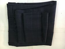 New Canali Blue Paid Wool Pleated Dress Pants 36S/W30.