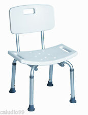 Medical Shower Bath Chair with Back TOOL FREE NEW