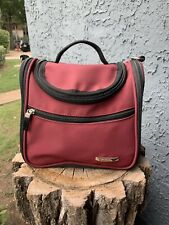 Everything Bag Toiletries Tote Carry-On Travel Bag. Maroon and black.