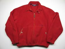 VTG Red Zip Up Polo Sport by Ralph Lauren Jacket Made in USA Size Medium