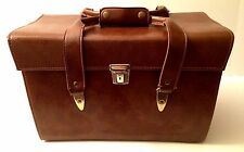 Vintage PERRIN of California Genuine LARGE Leather Camera Bag Case Purse #705