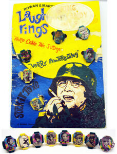 1968 Vari Vue Laugh In 1st Issue Flicker Rings & Only Known Counter Box Card