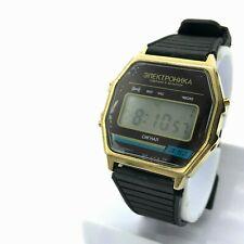 Digital Watch ELEKTRONIKA 3 52 Brown Dial Date Month Signal Alarm Vintage Light