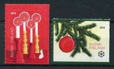 Finland 2018 MNH Christmas Decorations Trees Candles 2v S/A Set Stamps
