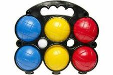 2x Boccia Spiel mit jeweils 6 Kugeln Boules Set Kunststoff im Tragekorb