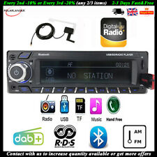 Car Radio DAB+RDS Bluetooth Stereo Head Unit AM/FM MP3 Player Hands Free 1 Din