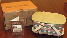 2014 Longaberger Collector's Club Life's a Picnic Series Mini Picnic Basket