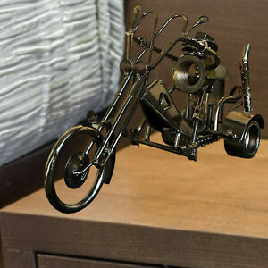 Motorcycle Model Figurine Motorbike Ornament Handmade Props Decoration Gifts