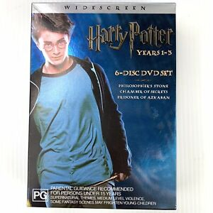 Harry Potter Years 1-3 6 Disc DVD Boxed Set Region 4 Discs as new condition