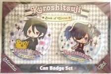 Black Butler Can Badge Ciel Phantomhive Sebastian Book of Circus Anime Japan F/S