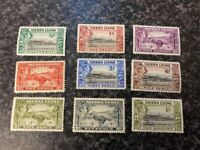SIERRA LEONE POSTAGE STAMPS SG188,189,192-196 LIGHTLY MOUNTED MINT