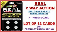 Stacker2 Real 2 Way Action Energize Boost Burn Fat 4ct (Lot of 12 X) 48 Tablets