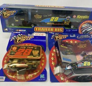 Trailer rig Lot of 3 Ricky Rudd Texaco NASCAR Diecast Ford Taurus Muppet #28