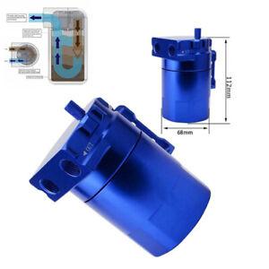 Blue Car Oil Tank Filter Adapters Baffled Aluminum Oil Catch Can Reservoir Tank