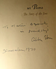 ABBA EBAN Israeli diplomat & politician Signed HB owned by Martin Agronsky