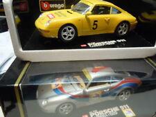 2 seltene Porsche 911 (993) Carrera Coupé Werbemodelle von Bburago 1:18 neu OVP