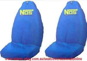 2 BLUE NOS THROW OVER,SEAT COVER,MAZDA 2,3,6,121,323,626,929,astina,rx7,bravo