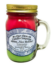 Mmm Nice Melons Scented Candle in 13 oz Mason Jar by Our Own Candle Company