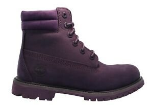 "Timberland Womens ""Waterville 6 Inch Double Collar Waterproof"" Purple Boots New"