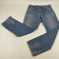 VTG LEVI'S 501 XX Button Fly Distressed Worn Denim Jeans 33x32