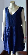 BOOHOO MIDI SKATER DRESS Navy Laces size 18 Plus Size new with tag #25