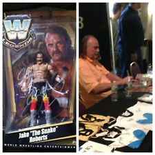 AUTOGRAPHED JAKE THE SNAKE ROBERTS LEGENDS SERIES FIGURE