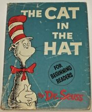 THE CAT IN THE HAT! (FIRST EDITION! 1957) Dust Jacket Dr.Seuss Matte DJ 200/200