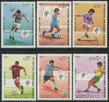 "LAOS N°937/942** Football ""Italia 90"" , 1990 Soccer world cup set MNH"